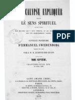 Swedenborg - L'APOCALYPSE EXPLIQUEE me Chapitres XVIIIetXIX Numeros 1090 1229 LeBoysDesGu