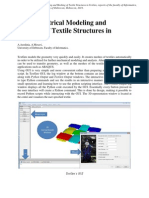 A Brief Report on Geometrical Modeling and Meshing of Textile Structures in TexGen