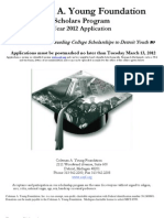 2012 CAYF Scholarship Application