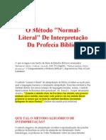 O Método Normal-Literal De Interpretação Da Profecia Bíblica