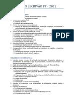 Conteúdo Programático Escrivão 2012