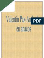 Valentín Paz-Andrade en anacos