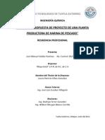 Revision y Propuesta de Proyecto de Una Planta de Harina de Pescado