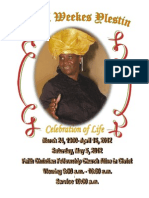 Muriel Weekes Ylestin Celebration of Life Booklet