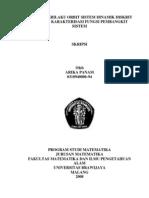Analisa Perilaku Orbit Sistem Dinamik Diskrit Melalui Karakterisasi Fungsi Pembangkit Sistem