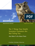 Accenture 7 Things Health Insurance Customers Not Telling You