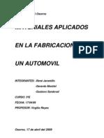 Materiales Sinteticos Utilizados en El Automovil