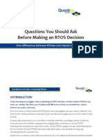 Questions to Ask When Choosing an Rtos
