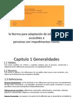 la Norma COVENIN para adaptación de edificaciones accesibles