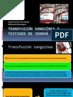 Transfusión sanguínea y Testigos de Jehová
