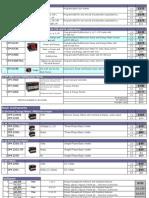 Price List o MFM