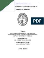 2008 01 23 Arielagramontloza Tesis Regulacion Juridica de Los Contratos de Teletrabajo