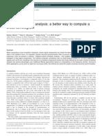 Scaled Correlation Analysis