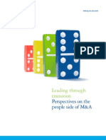 Leading Through Transition - People Side of M&A
