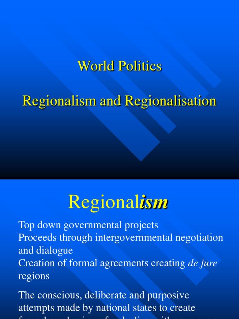 globalisation vs regionalisation