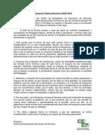 Declaración Pública 8 de Mayo, 2012