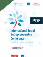 International Social Entrepreneurship Conference Final Report