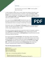 Write Hello in the PDF File
