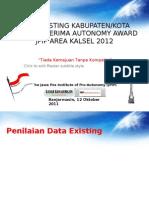 Sosialisasi Data Existing OA Kalsel 2011