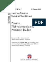 ED PPSAK 7 Pencabutan PSAK 44 Akuntansi Aktivitas an Real Estate
