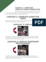 langkah pemasangan komputer