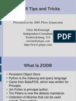 Chris McDonough-ZODB Tips and Tricks