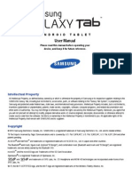 Samsung Galaxy Tab MANUAL