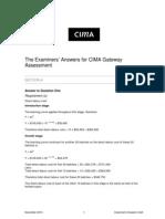 CGA November 2010 Answers