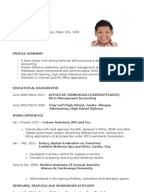 sample resume for fresh graduates - Sample Resume For Fresh Graduate