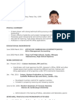 Sample Resume - Accounting Recent Graduate