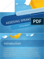 Assessing Speaking Presentation 20412