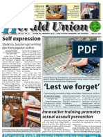 Herald Union May 10, 2012_Lest We Forget