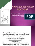 Oxidation-reduction Reactions Princess...