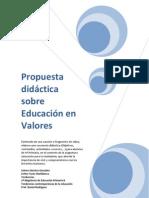 Propuesta didáctica sobre educación en valores