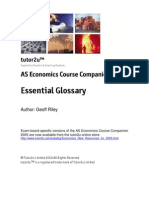 Essential as Economics Glossary 2005