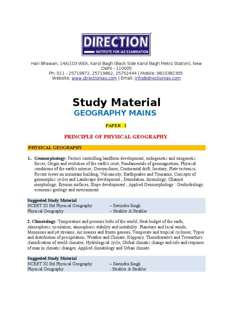 Geomorphology book by savindra singh vs kaur