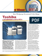 Toshiba 281c 451c 351c Bertl Best of Year Color Article