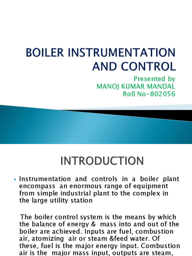 Boiler Instrumentation and Control Present Ti On   Boiler   Control ...