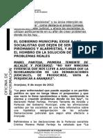 CONTESTACIÓN PSOE DEMARCACIONES JUDICIALES