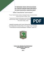 Studi Sifat Mekanika Tanah untuk Kelayakan Operasional Traktor Tangan (Hand Tractor) di Kabupaten Lima Puluh Kota Sumatera Barat