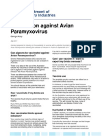 Vaccination Against Avian Paramyxovirus
