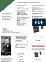 """Flyer / folleto del curso """"Las señales de tráfico del texto"""