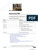 Implementing VRRP Cisco