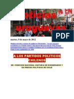 Noticias Uruguayas Martes 8 de Mayo 2012