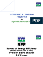 STANDARD & LABELING for Agricultural Pumpset