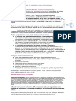 A Necessidade e a Diversidade de Relações Económicas Internacionais (1)
