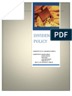 Final Report on Dividend Policy