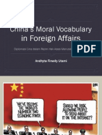China's Moral Vocabulary in Foreign Affairs