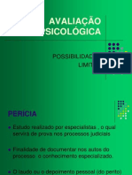 13. AVALIACAO PSICOLOGICA (2012.1)