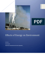 Effects of Energy on Environment